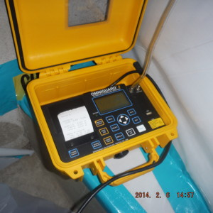 Commercial mold project-manometer to measure air flow into the containment