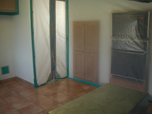 Containment sealed after the mold remediation