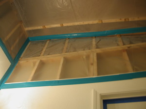 Small scale-ceiling area sealed pending final repairs